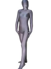 Halloween prata cinza do Spandex Zentai terno Halloween
