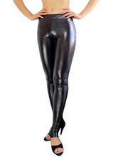 Anime Costumes AF-S2-7176 Halloween Black Shiny Metallic Sexy Trousers