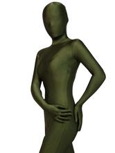 Disfraz Carnaval Halloween Zentai Verde Cazador Spandex Bodysuit Halloween Carnaval Halloween
