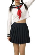 Anime Costumes AF-S2-12948 Black And White Long Sleeves School Uniform Cosplay