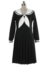 AF-S2-12956 Black Long Sleeves Dress School Uniform