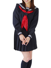 Anime Costumes AF-S2-12949 Black Long Sleeve School Girl Uniform