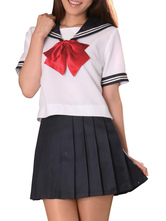 Anime Costumes AF-S2-12966 Navy Blue Short Sleeves Sailor School Girl Cosplay Costume
