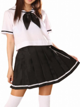 Anime Costumes AF-S2-12932 Short Sleeves Sailor School Uniform Cosplay Costume