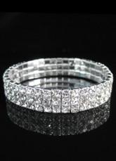 Sparkling Rhinestone White Bridal Bracelet