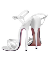 6 3/10'' High Heel Patent Ankle Straps Sandals
