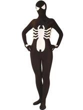 Halloween Spiderman Zenta Suit Super Hero Lycra Spandex Black Costume Cosplay Halloween