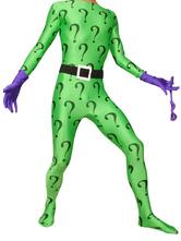 Costume da supereroe collant per adulti supereroi senza cappuccio verde mascherina per occhi lycra spandex unisex  Carnevale