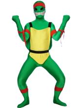 Costume de zentaiï vert en lycra spandex enveloppé Déguisements Halloween