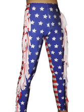 Anime Costumes AF-S2-22110 Halloween Purple And Red Star Lycra Spandex Wrestling Pants