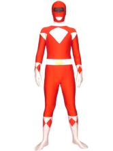 Carnevale Vestito multicolore collant completo rosso per adulti tuta lycra spandex per uomo Halloween