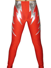 Anime Costumes AF-S2-22114 Halloween Red Silver Spandex Wrestling Pants