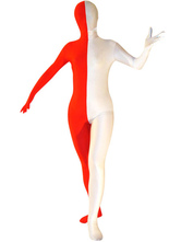 Anime Costumes AF-S2-21047 Halloween Full Bodysuit White And Red Split Spandex Zentai Suit