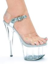 6 2/5'' High Heel Platform Clear PVC Sexy Sandals