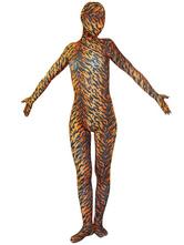 Anime Costumes AF-S2-16052 Halloween Tiger Zentai Suit Animals Lycra Spandex Unisex Full Bodsuit