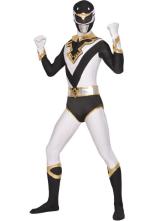 Carnevale Vestito multicolore collant completo bianco e nero per adulti tuta lycra spandex unisex Halloween