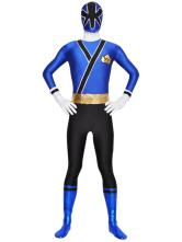 Halloween Blue Black Unisex Lycra Zentai Suit Halloween