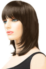 Anime Costumes AF-S2-24547 Brownish Black Women's 45cm Short Straight Fashion Wig With Fringe Style