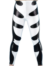 Anime Costumes AF-S2-25512 Halloween Black And White Shiny Metallic Wrestling Pants