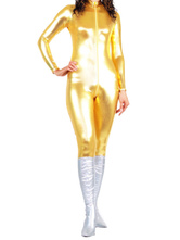 Anime Costumes AF-S2-25706 Gold Shiny Metallic Catsuit Sexy Halloween Full Bodysuit