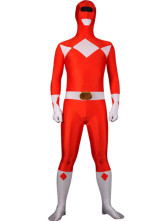 Anime Costumes AF-S2-25756 Halloween Red And White Lycra Spandex Super Hero Zentai Suit