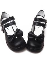 Lolitashow Lolita Schuhe mit Blockabsatz in Schwarz