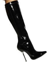 Black Knee High Boots Women Sexy Shoes Pointed Toe High Heel Boots