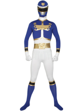 Anime Costumes AF-S2-30203 Power Ranger Zentai Suit Halloween Lycra Spandex Super Hero Costume