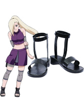 Naruto Yamanaka Ino Imitated Leather Rubber Cosplay Shoes Halloween