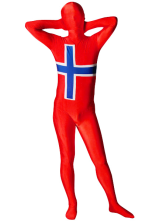 Anime Costumes AF-S2-31259 Halloween Flag of Norway Full Body Spandex Suit Zentai Suit