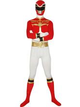 Anime Costumes AF-S2-30204 Red Power Ranger Zentai Suit Halloween Lycra Spandex Super Hero Costume