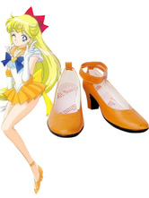 Sailor Moon Sailor Venus Cosplay Shoes Imitated Leather Aino Minako Halloween