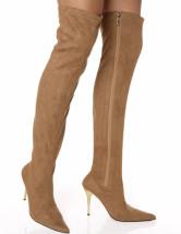 Overknees Stiefel mit Stilettos und Reißverschluss Damen Winter Schuhe