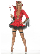 Anime Costumes AF-S2-87422 Sexy Red Acrylic Spandex Womens Demon Halloween Costume Cosplay