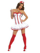 Anime Costumes AF-S2-87566 Halloween Enticing Nurse Costume Wrapped Bust Dress