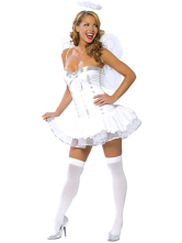 Anime Costumes AF-S2-87666 Halloween Sweet White Acrylic Spandex Womens Angel Costume