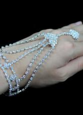 Bracelet pour mariée de rhinestone blanc