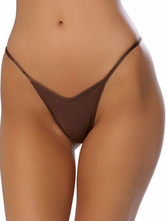 Brown Acrylic Spandex Thong