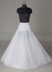 Sottogonna da sposa con 2 strati e 1-guardinfante A-linea bianca in tulle