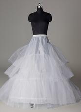 Enagua de boda 2021 Bottoms de Mujer de tul blanco con tres capas Enagua de quinceñera Enagua de baile