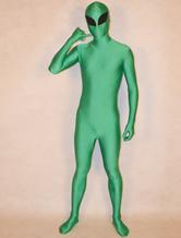 Traje alienígena Halloween Zentai verde combina com o traje do dia de São Patrício