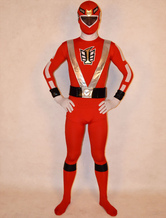Anime Costumes AF-S2-141818 Red Power Rangers Costume Super Hero Lycra Spandex Zentai Suit