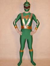 Anime Costumes AF-S2-141822 Green Super Sentai Lycra Spandex Unisex Zentai Suit