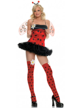 Anime Costumes AF-S2-124760 Halloween Sweet Red And Black Dot Cotton Womens Sexy Bee Costume