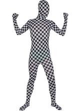 Patterned Mosaics Zentai Suit Halloween Lycra Spandex Full Bodysuit Halloween