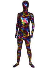 Morph Suit Multicolor Shiny Metallic Fabric Zentai Suit Unisex Full Body Suit