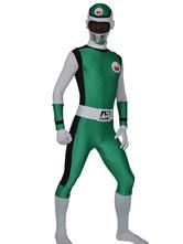 Morph Suit Green Power Rangers Lycra Spandex Fabric Zentai Suit Unisex Full Body Suit