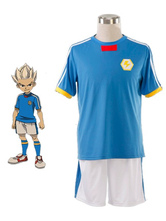 Inazuma Eleven Cosplay Japan Soccer Team Jersey White Blue Cosplay Costume
