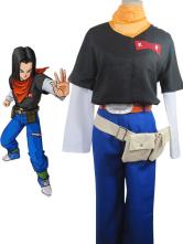 Dragon Ball Andriod 17 Cosplay Costume Lapis Cosplay Uniform Cloth Rolle Woolen Fabric  Halloween