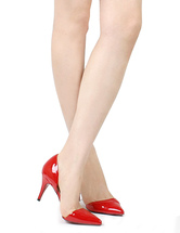 Scarpe appuntite rosse formali da 8cm